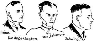 Die Angeklagten im Rathenau-Prozeß