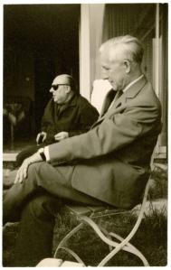 Ernst Jünger und Ernst von Salomon in Winsen an der Luhe, fünfziger Jahre